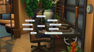 Sims 4-split household using computer