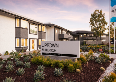 Entrance sign of Uptown Fullerton