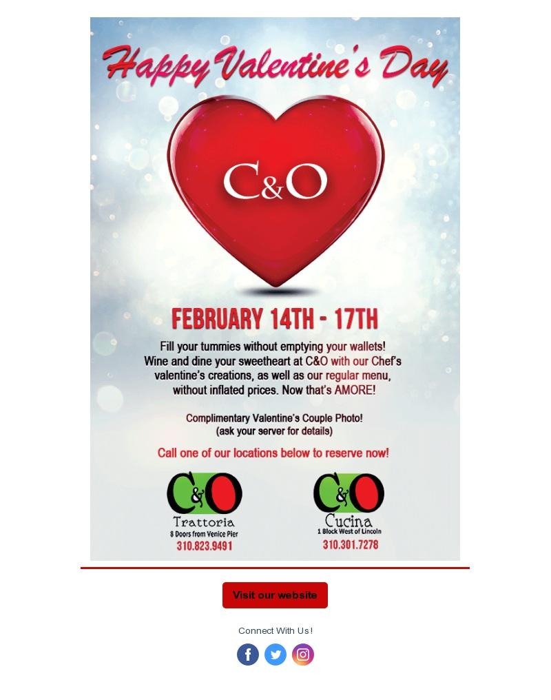 C&O Email Marketing Example