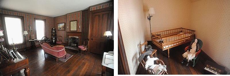 2nd set of 2 photos of inside jones house