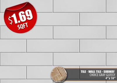 Choice Gray Glossy Tile