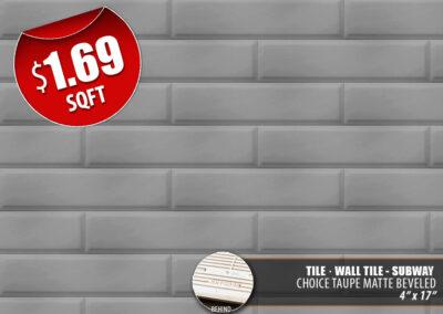Choice Taupe Matte Beveled Tile