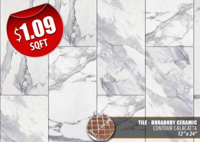 Contour Calacatta Ceramic Tile