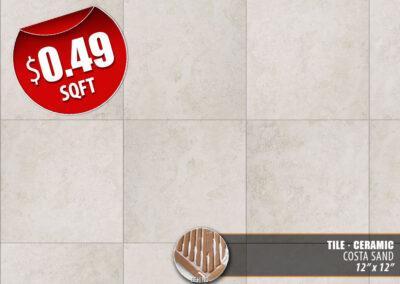 Costa Sand Ceramic Tile