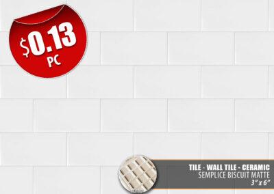 Semplice Biscuit Matte Ceramic Tile