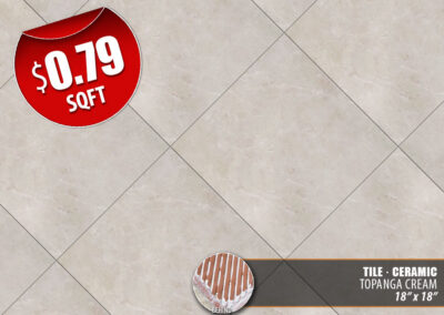 Topanga Cream Ceramic Tile