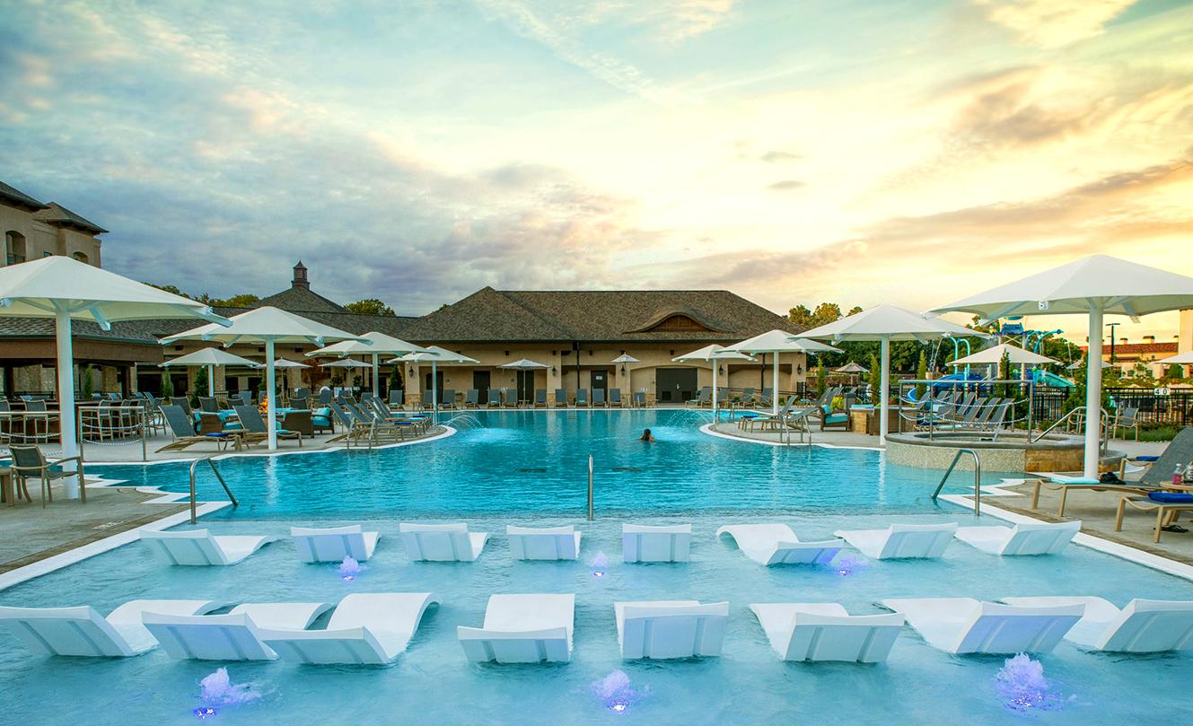 Resort Style Pool at Shangri-La Hotel in Oklahoma