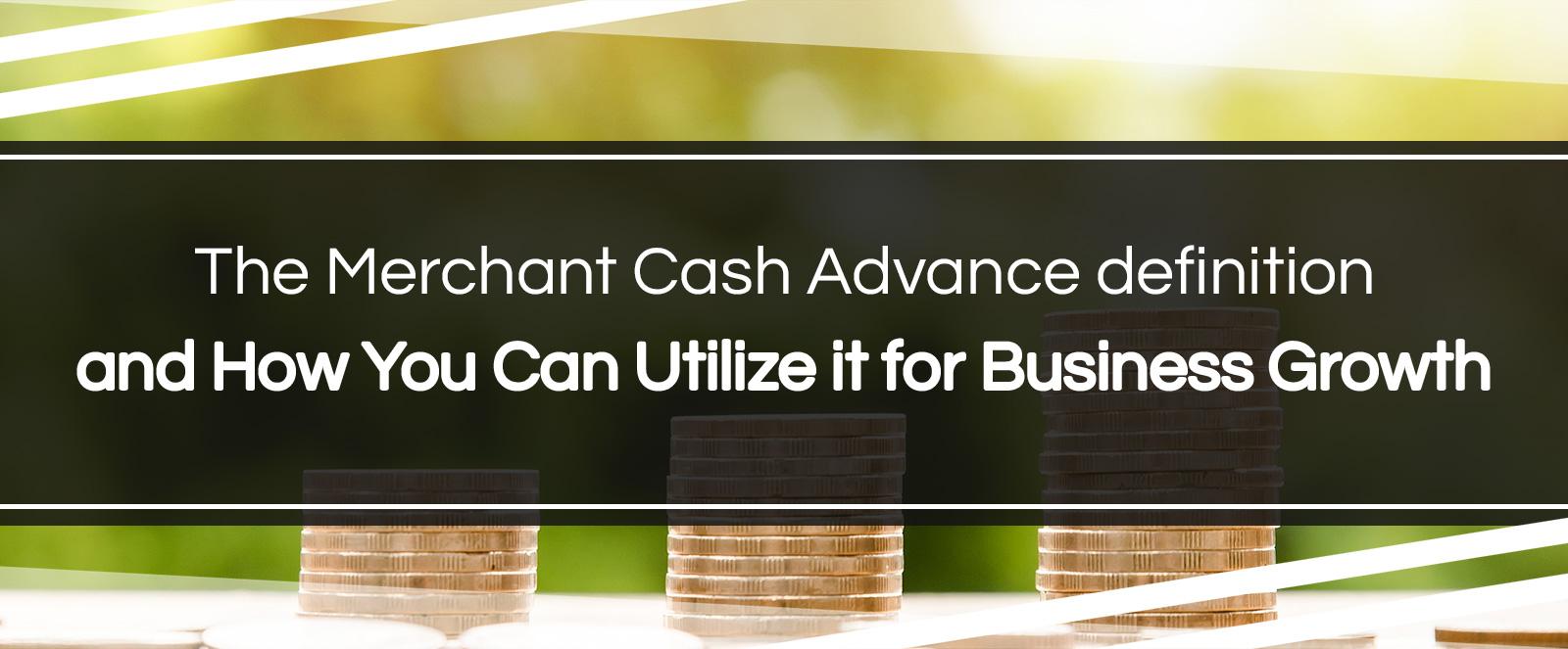 merchant cash advance definition