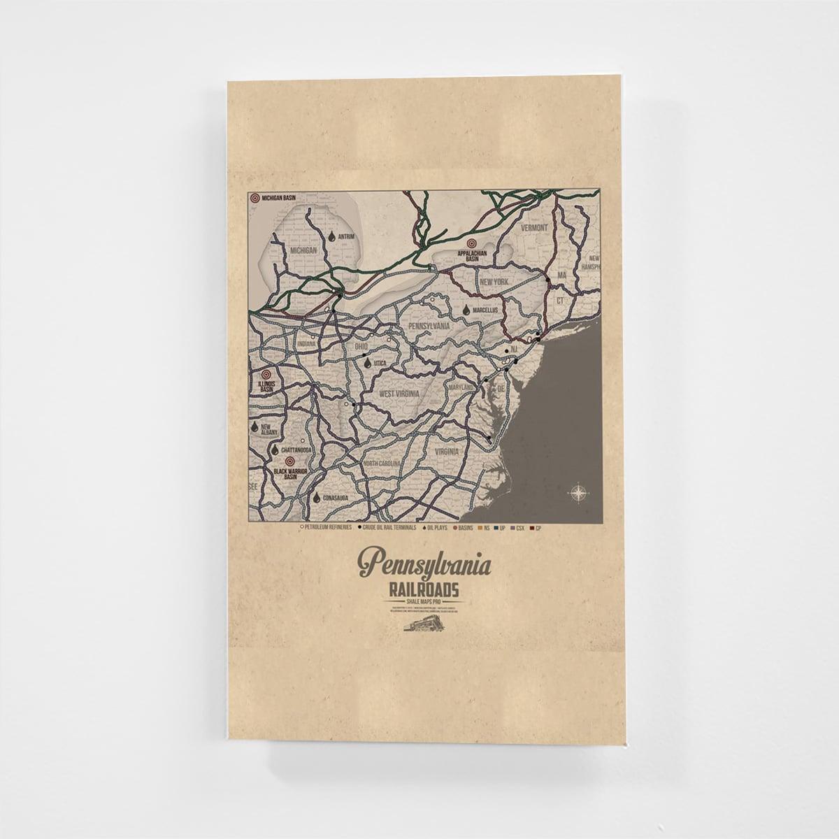 Pennsylvania Railroad Map & Oil Plays Map