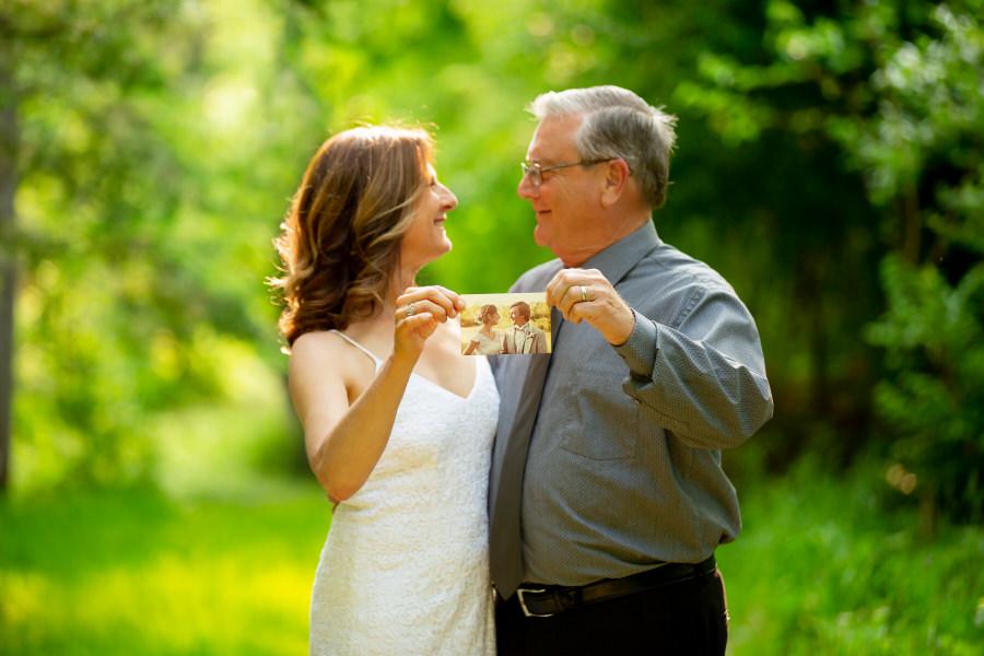 35th wedding anniversary couple