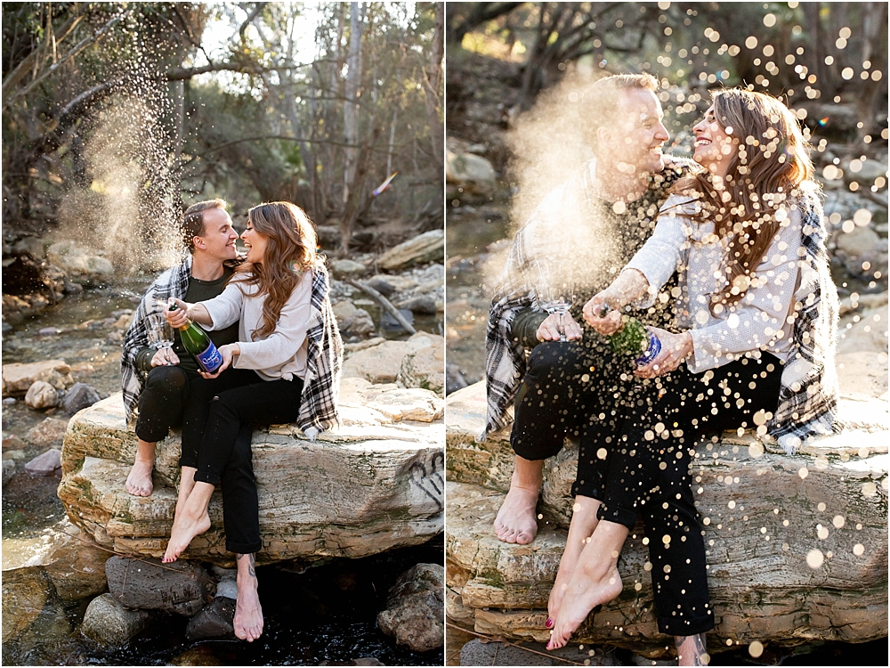 Popping champagne wilson creek