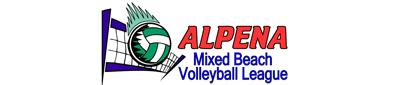 Alpena Mixed Beach Volleyball League Logo