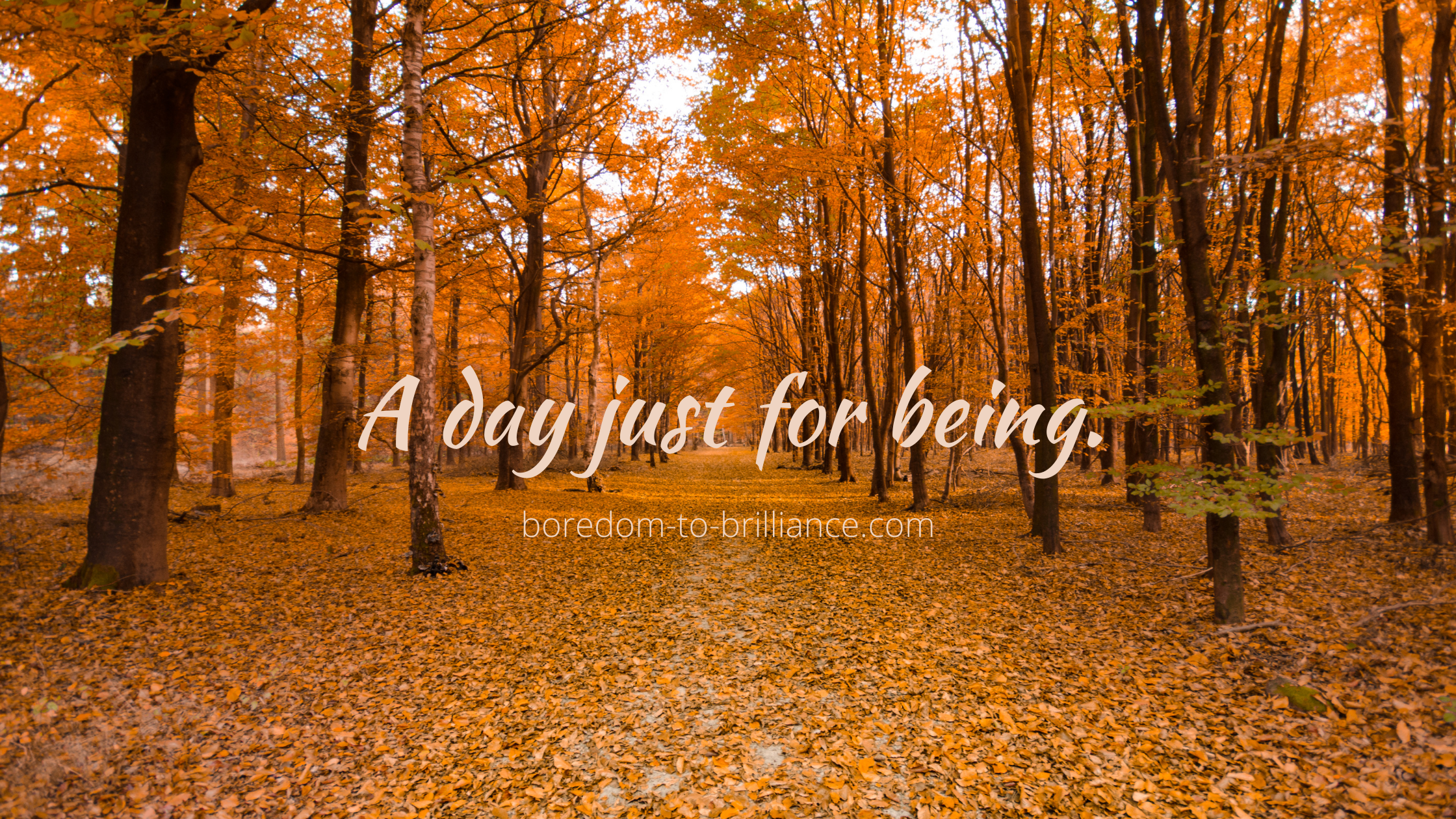 A day just for being.