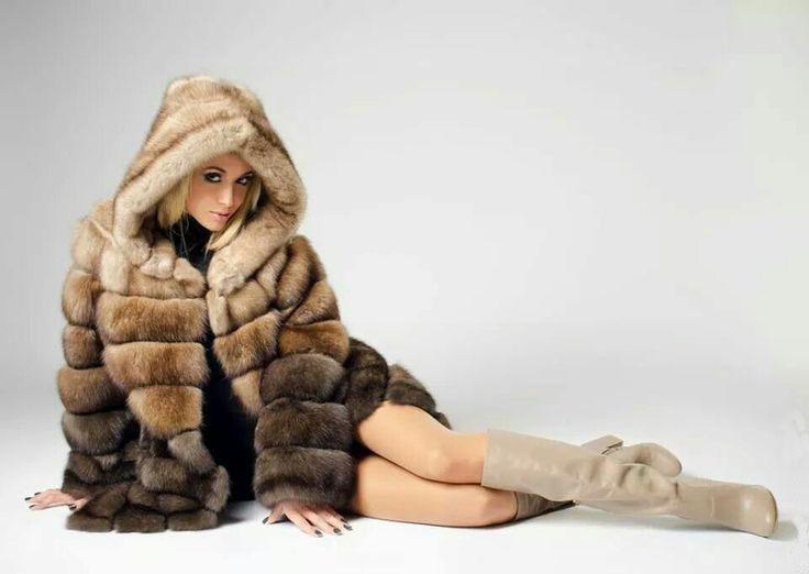 Multi Tiered Full Sable Coat