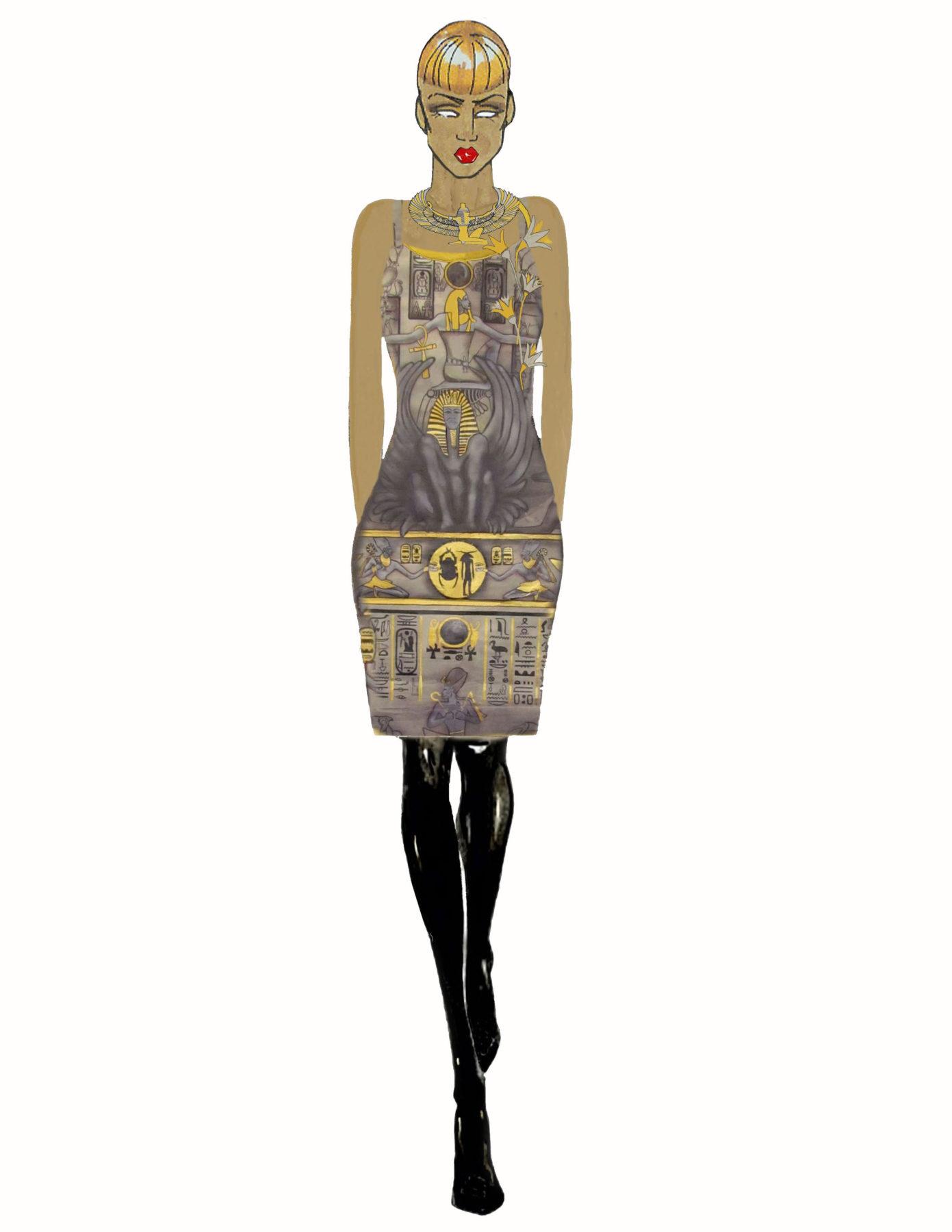 Egyptian Dress CGB Illustration