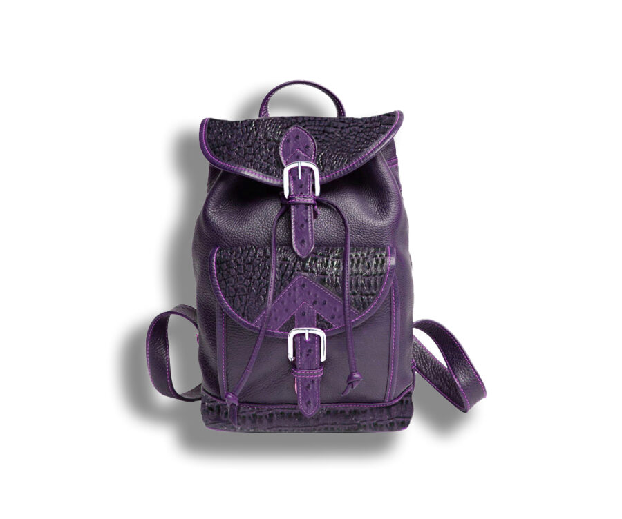Amistad Embossed Italian Lamb & Ostrich Leather Back Pack