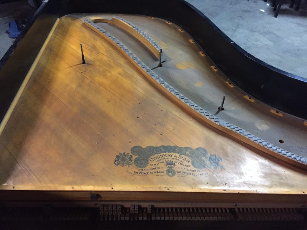 Steinway Grand Piano Soundboard Before