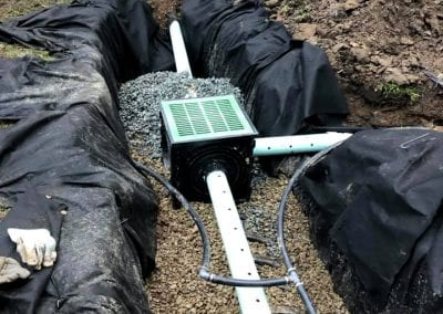 Installation of a french drain