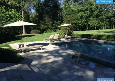 Hardscape pool patio