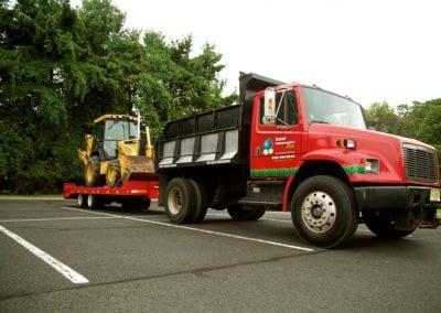 Company truck w backhoe