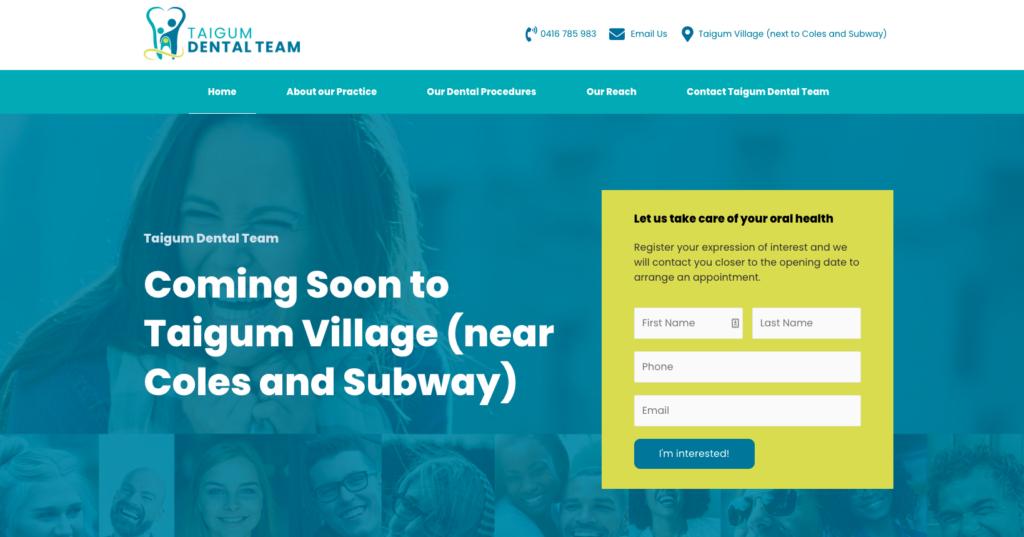 Taigum Dental Team website