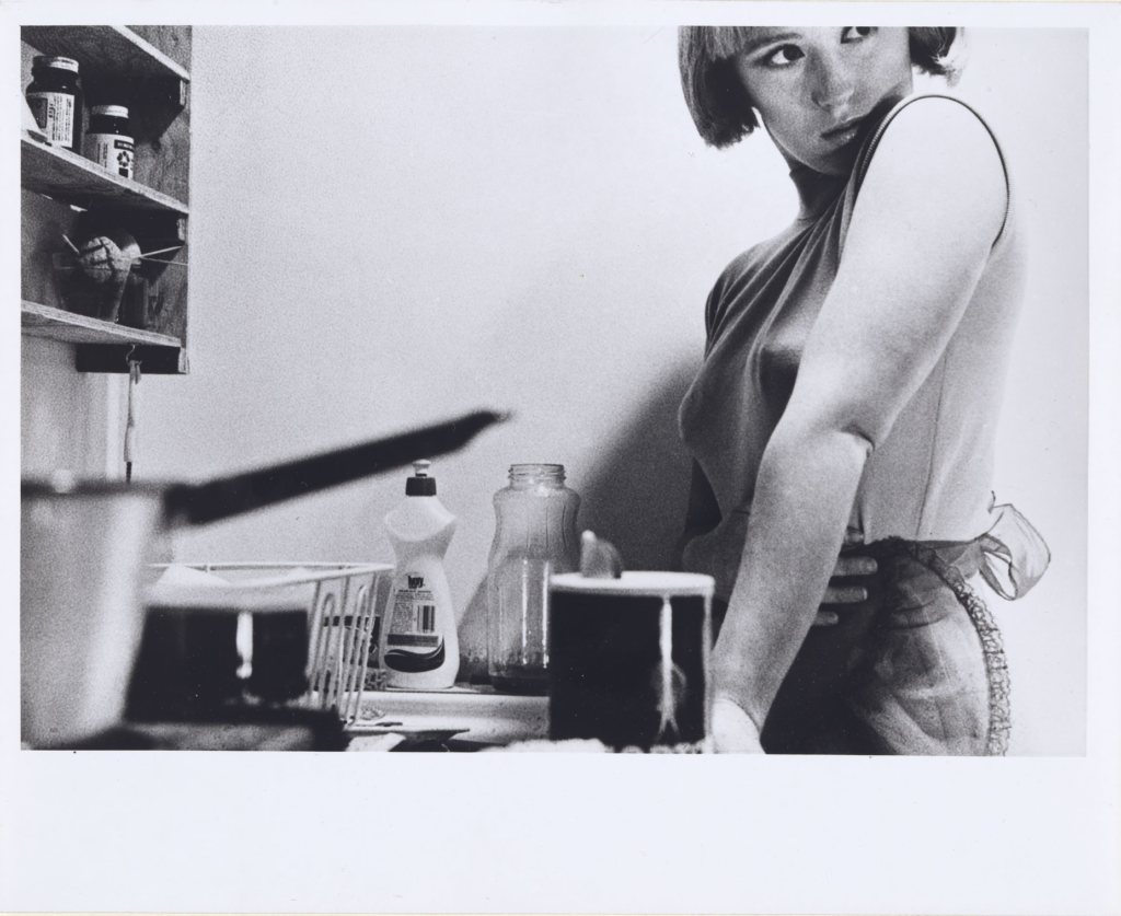 Cindy Sherman, Untitled Film Still #3, 1977, gelatin silver print, 16.1 by 24 cm. National Gallery of Australia, Canberra (acquired in 1983)