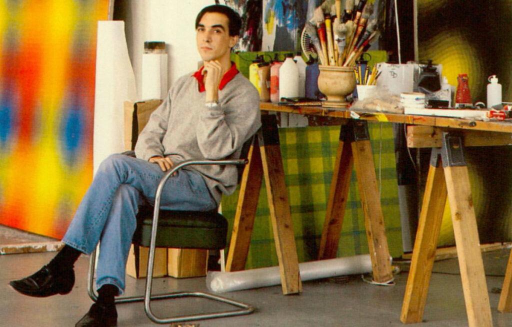 Peter Schuyff in his New York studio at ILEANA Contemporary Art Gallery in Brisbane, Australia