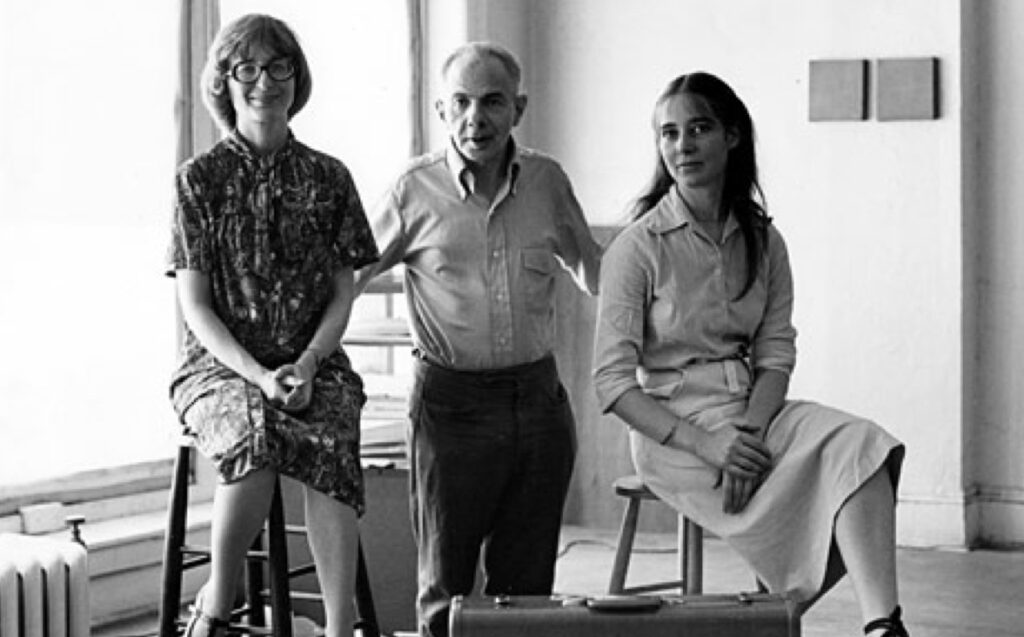 Edda Renouf with Herbert and Dorothy Vogel, New York at ILEANA Contemporary Art Gallery in Brisbane, Australia