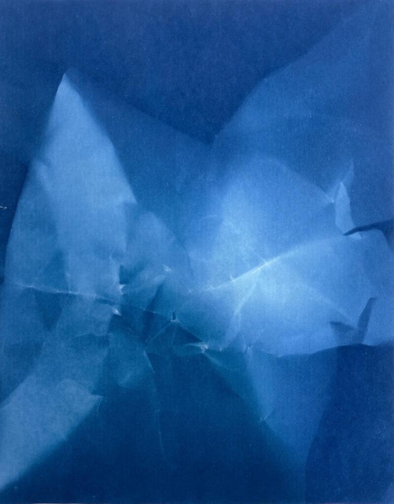 Walead Beshty, Untitled, 2009, cyanotype at ILEANA Contemporary Art Gallery in Brisbane, Australia