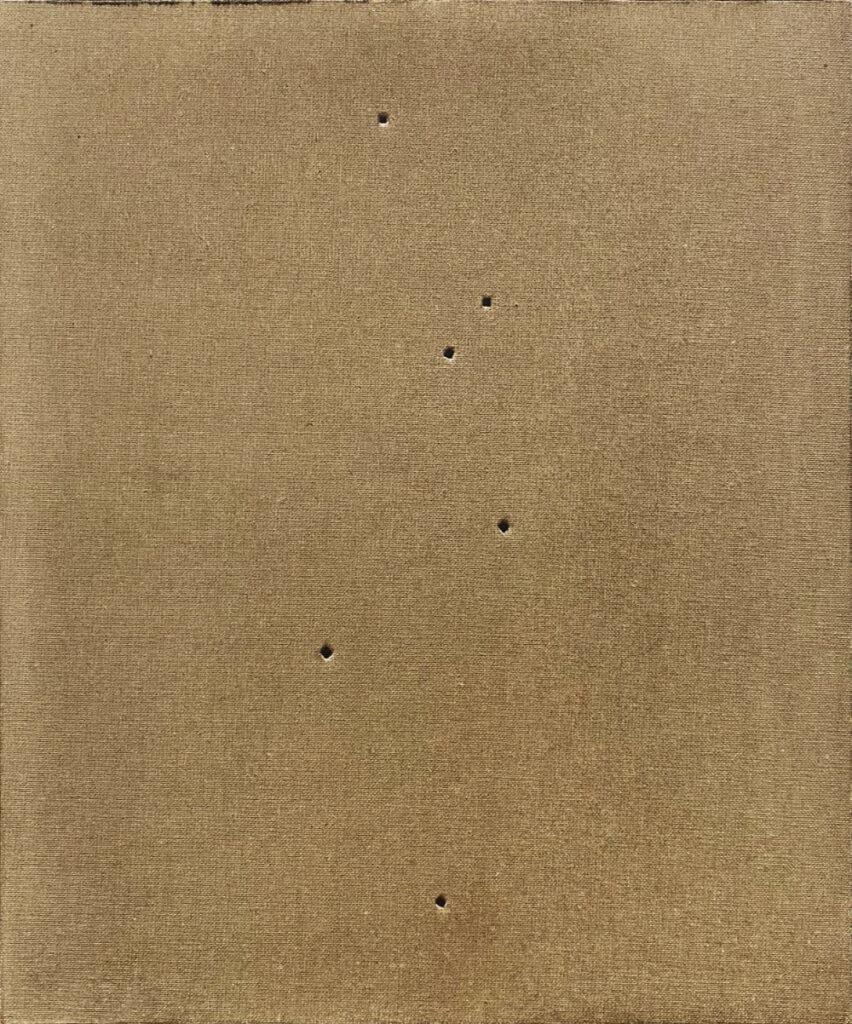 Tim Maguire, Untitled, 1994, Lucio Fontana painting at ILEANA Contemporary Art Gallery in Brisbane, Australia