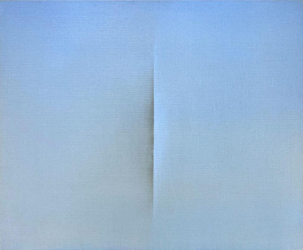 Tim Maguire, Untitled, 1994, Lucio Fontana slit painting at ILEANA Contemporary Art Gallery in Brisbane, Australia