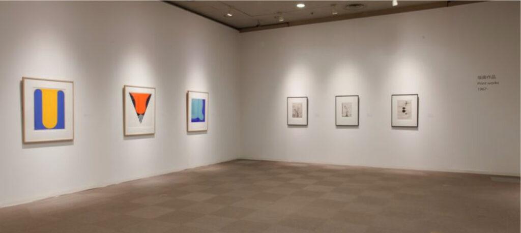 Takesada Matsutani, Propagation AA, 1970, silkscreen at ILEANA Contemporary Art Gallery in Brisbane, Australia