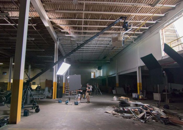 Jib Operator on Deadly Inferno Feature in Toronto