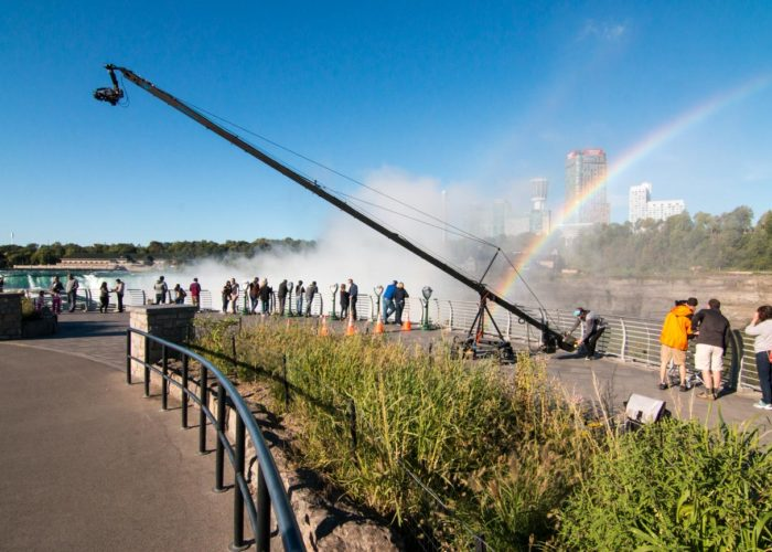 30' Jimmy Jib Triangle Operating at Niagara Falls