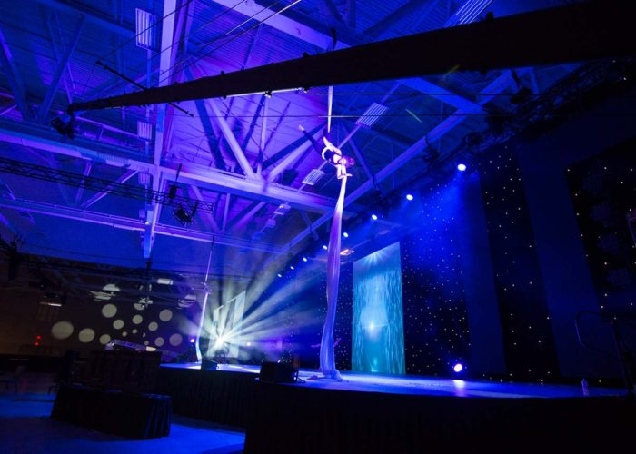 Big Fall Productions Operating 40' Jib at Arbonne Conference in September 2016