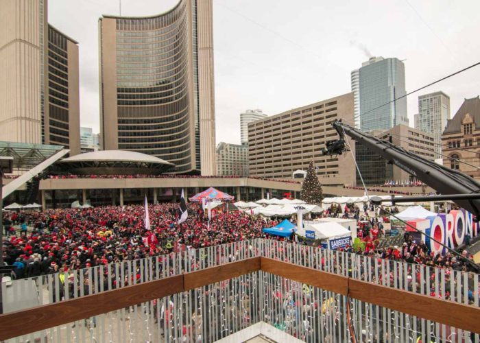 TFC MLS Cup championship parade for TSN with jimmy jib