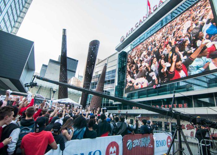 Jurassic Park Toronto Raptors Playoffs Jimmy Jib Triangle for TSN
