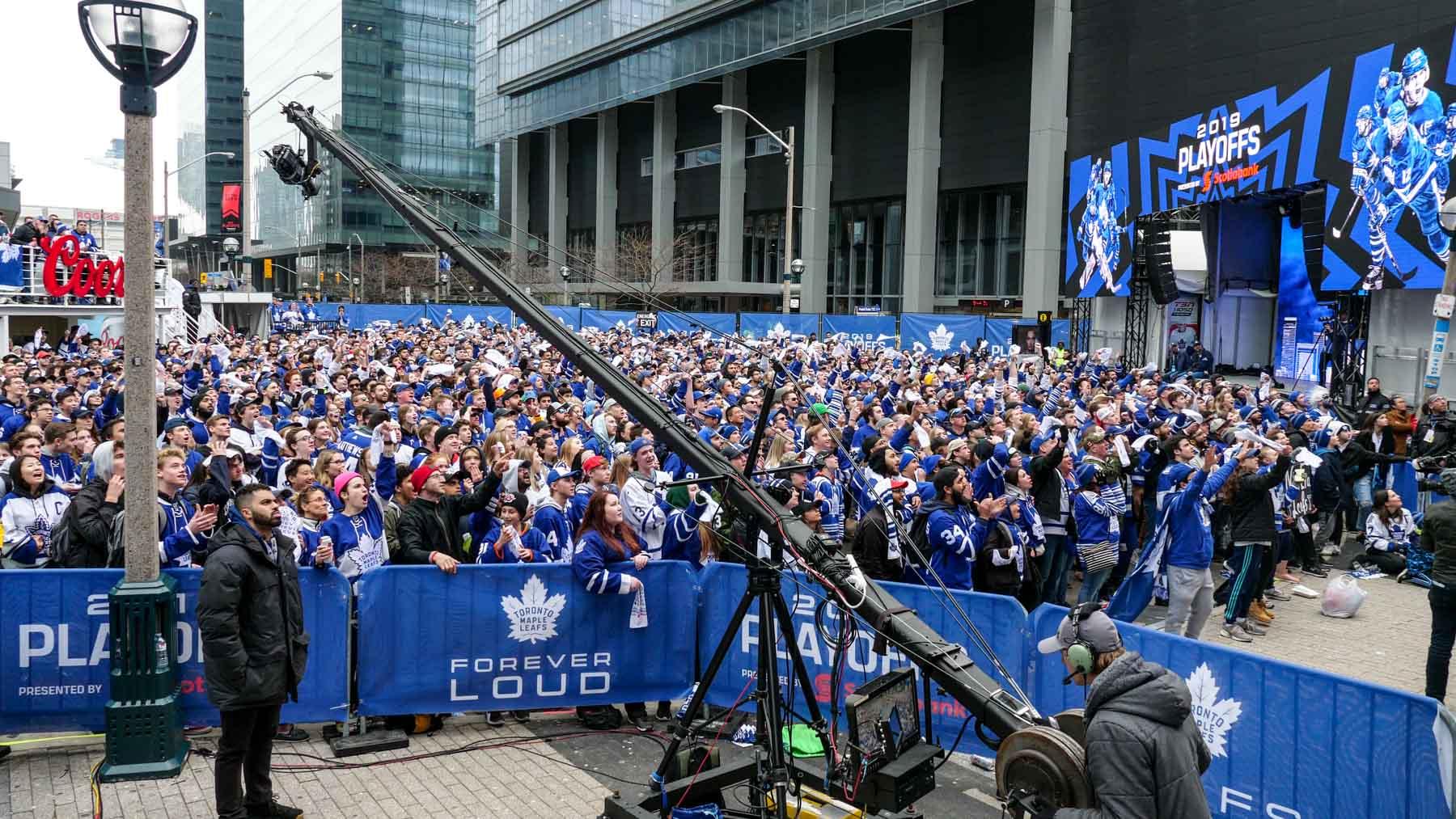 Toronto-Maple-Leafs-Playoffs-Tailgate-Scotiabank-Arena-Jib-Operator