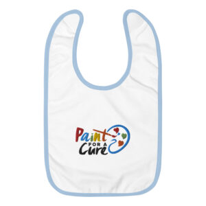 Paint For A Cure Embroidered Baby Bib