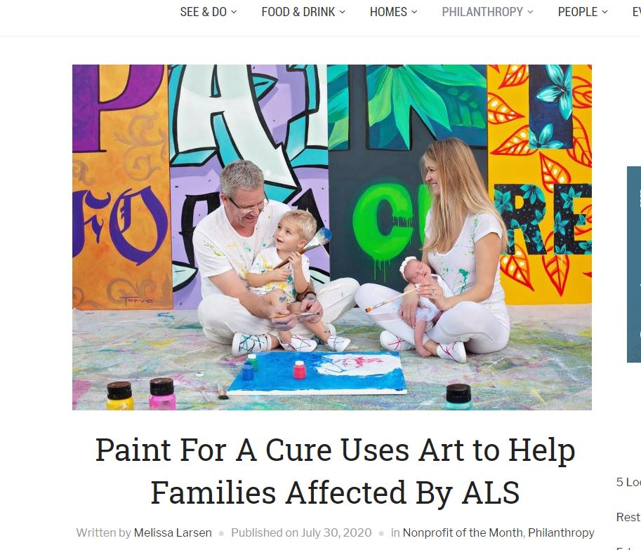 You are currently viewing Paint For A Cure Uses Art to Help Families Affected By ALS