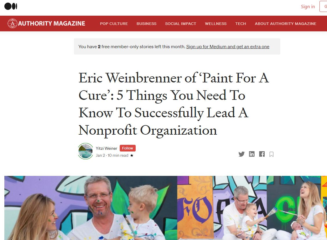 Read more about the article Authority Magazine Feature