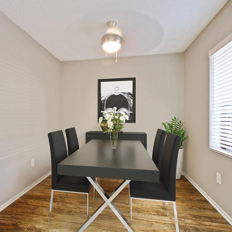 Furnished dining room