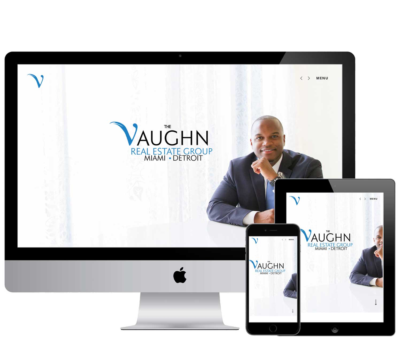 The Vaughn Real Estate Website design