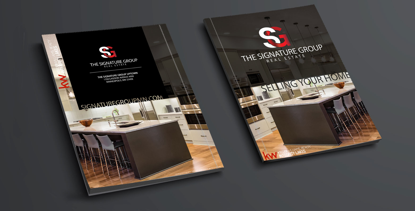Real Estate Listing Presentation Cover design for the Signature Group of Keller Williams