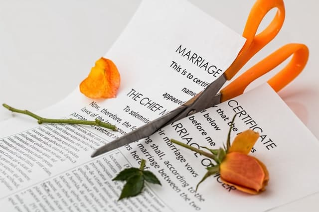 Divorce agreement.