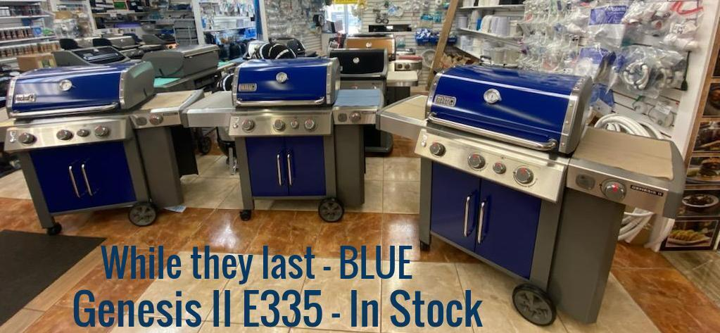 Weber Blue Genesis II E335 at Wave Pool and Grill