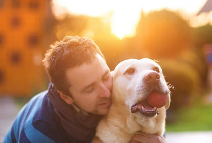 man and dog best friend