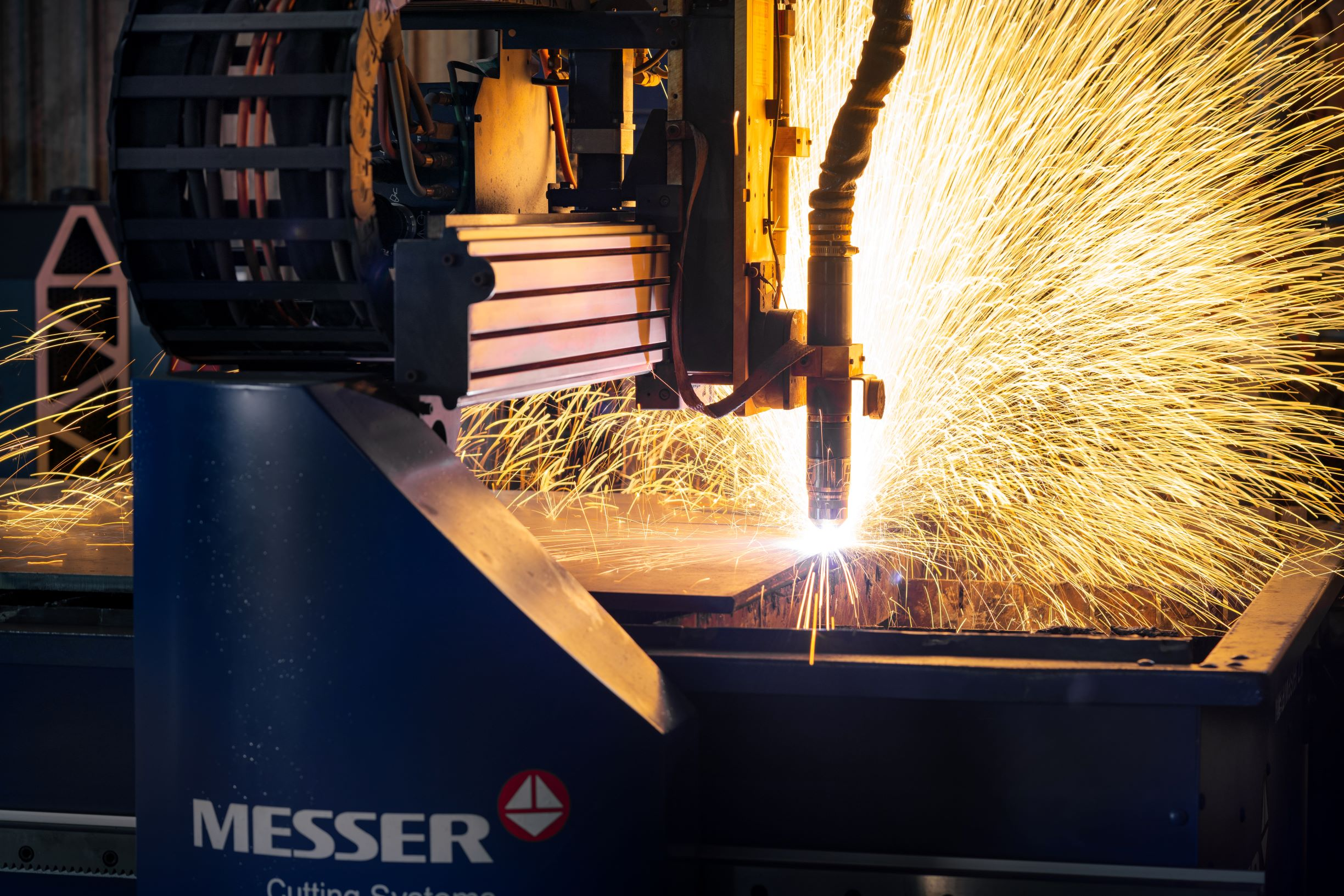 CNC Plasma Cutter in action