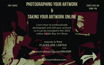 Photographing your artwork and taking your artwork online