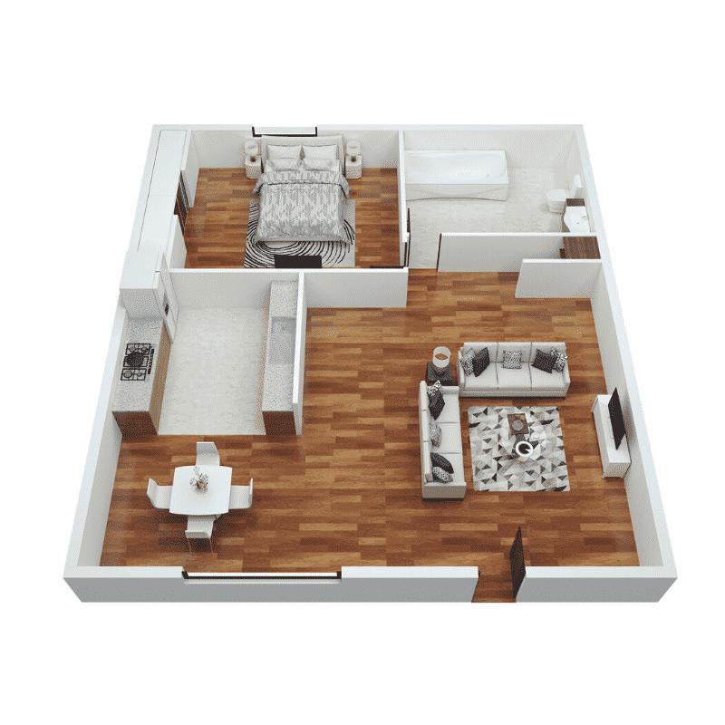 1 Bed 1 Bath 625 Sq. Ft. floor plan